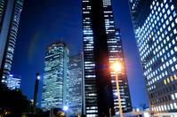 Night view skyscrapers Stock photo [1018957] Urban