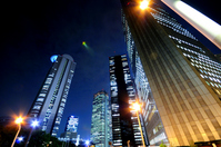 Skyscrapers night view Stock photo [1024085] City