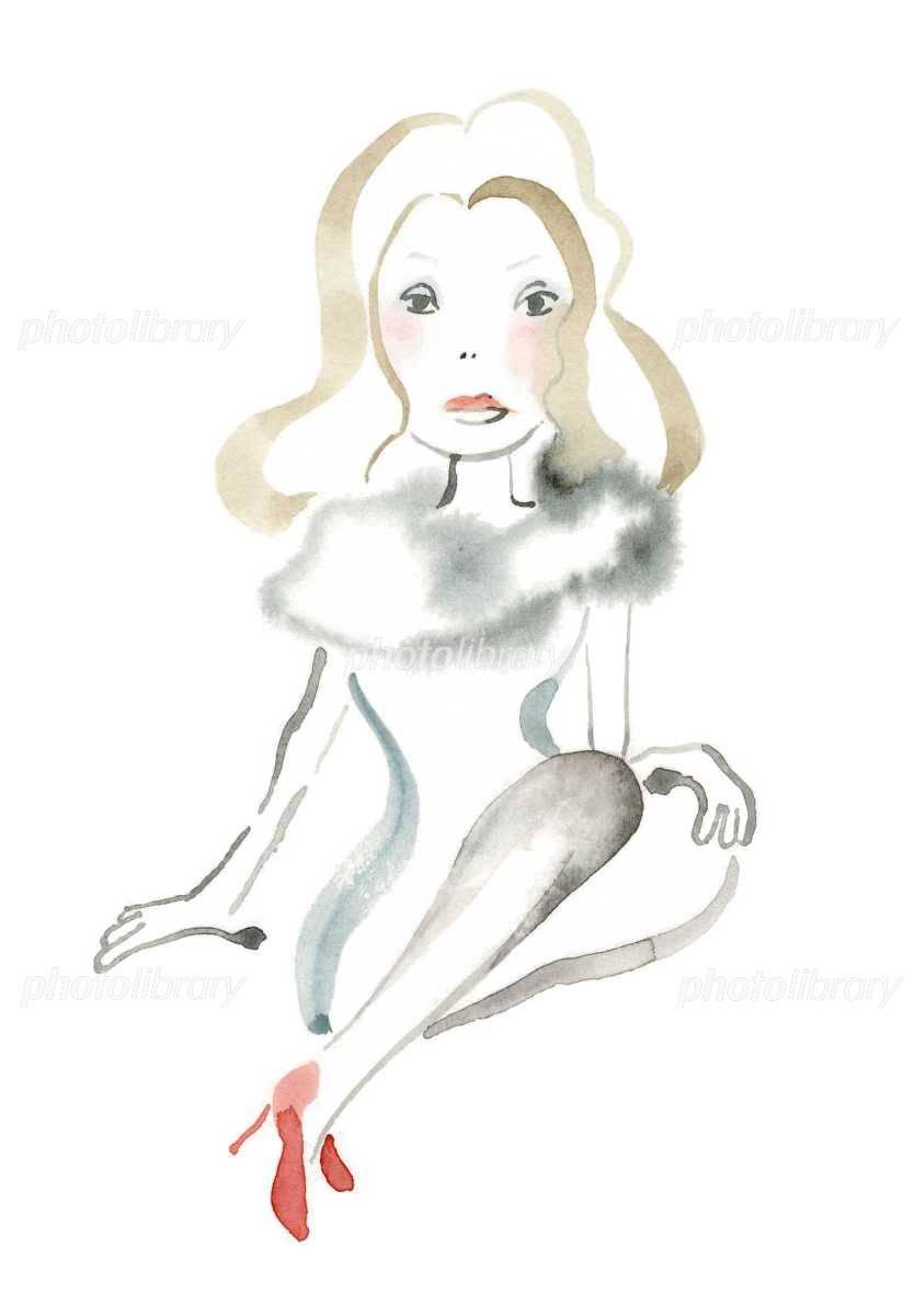 色気ある女性 イラスト素材 1130965 フォトライブラリー