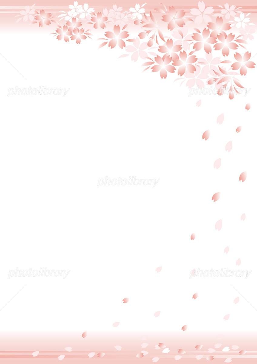 背景 桜 縦 イラスト素材 [ 1133974 ] - フォトライブラリー photolibrary