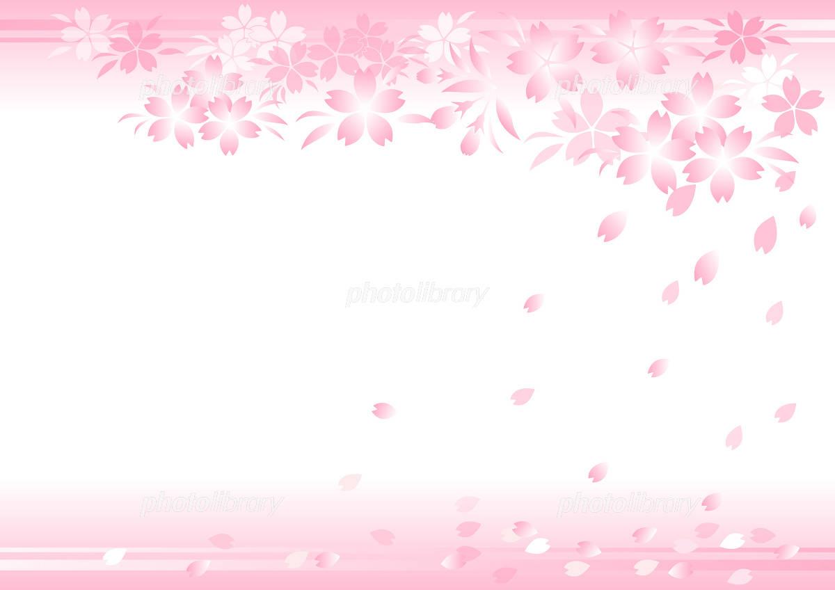 背景 桜 イラスト素材 [ 1133982 ] - フォトライブラリー photolibrary