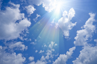 Blue sky and sun Stock photo [1132067] Blue