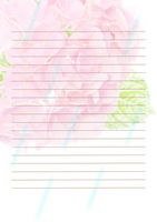 Stationery of hydrangea Stock photo [1134064] Hydrangea
