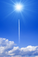 Contrail and the sun Stock photo [1135258] Contrail