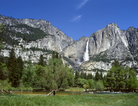 Yosemite Falls and Merced River Stock photo [1137150] World