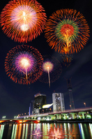 Sumida River and fireworks Stock photo [1137820] Image