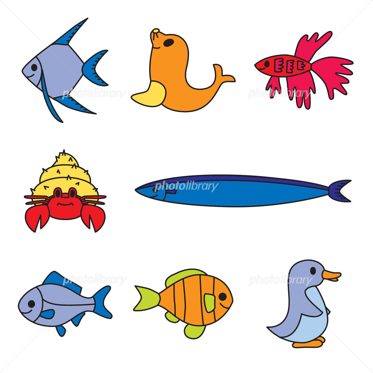 かわいい魚 イラスト素材 [ 1233791 ] - フォトライブラリー photolibrary