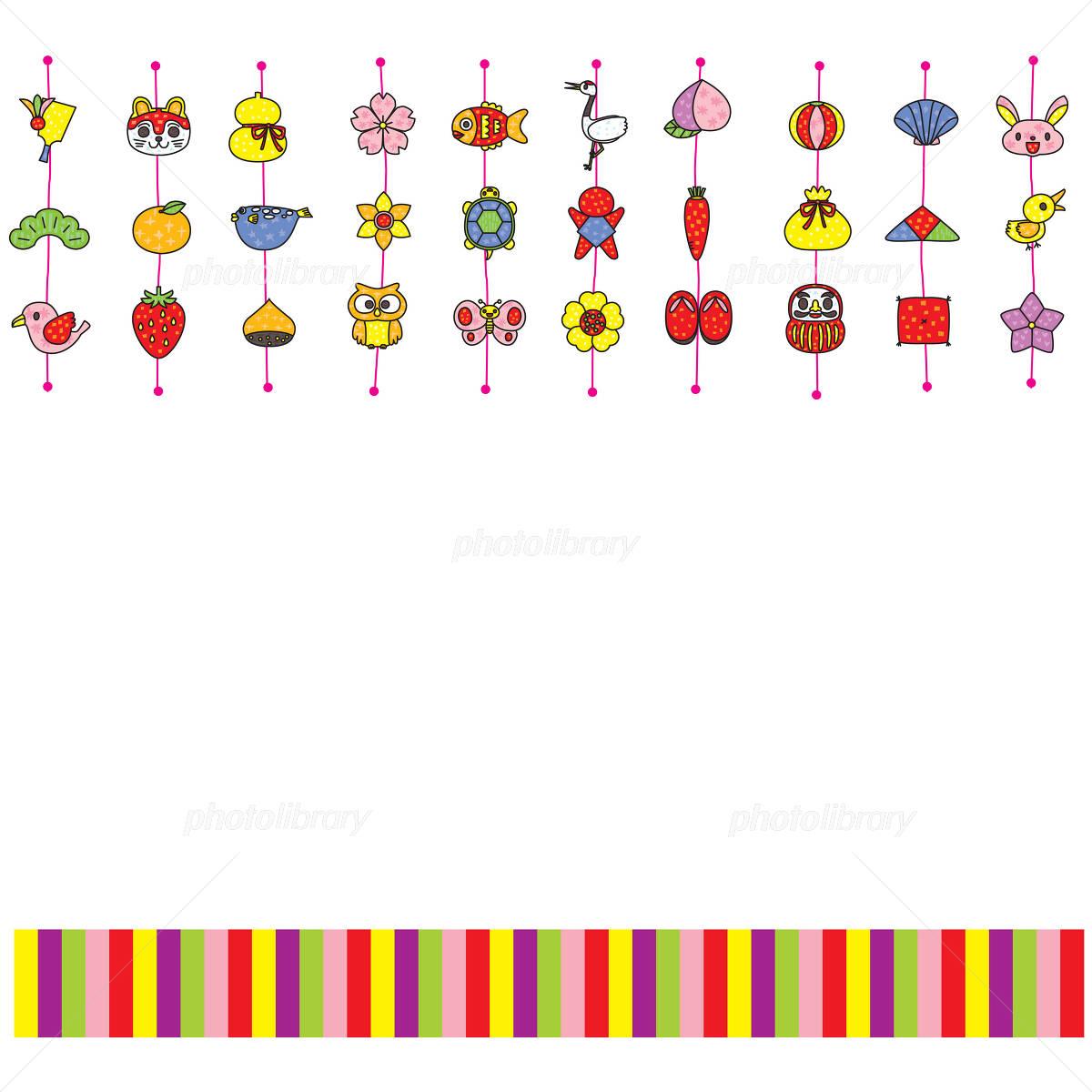 つるし雛飾り罫 イラスト素材 1233821 フォトライブラリー