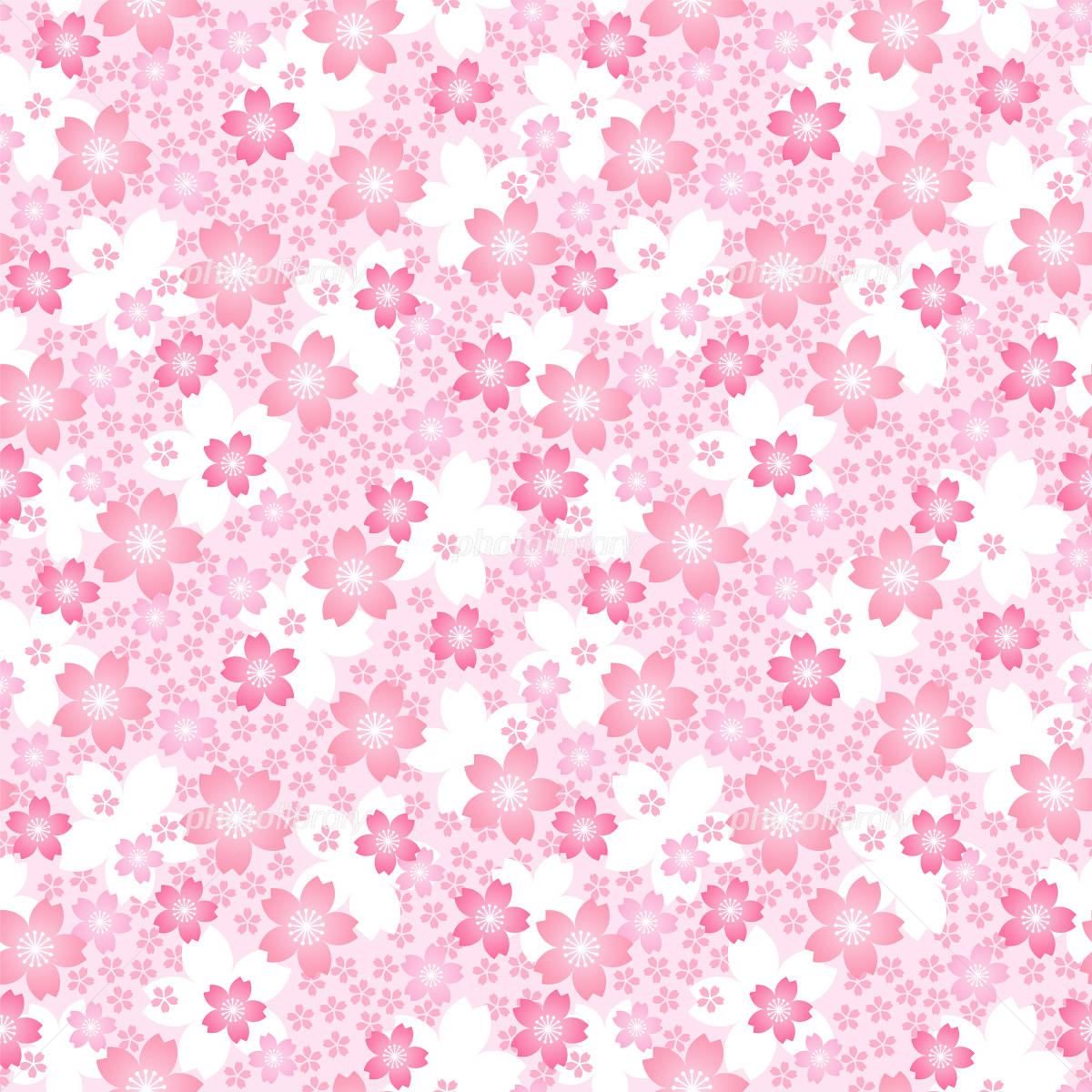 桜 壁紙 イラスト素材 1237634 フォトライブラリー Photolibrary