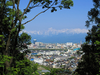 Toyama city and Tateyama mountain range Stock photo [1234526] Toyama