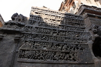 Wall sculpture of Ellora Caves Kairasanata temple Ramayana Stock photo [1234890] Ellora