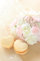 Heart macaroons and ring Stock photo [1235766] Ring