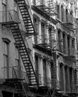 Fire escape Manhattan building Stock photo [1245970] America