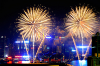 China Hong Kong Chinese New Year fireworks New Year Stock photo [1334203] China