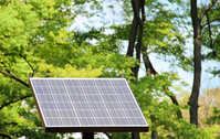 Fresh green and solar panel Stock photo [1335438] Fresh