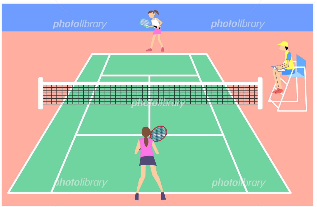 テニスコート イラスト素材 1414470 フォトライブラリー Photolibrary