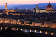 Florence Cathedral and Palazzo Vecchio of night view Stock photo [1410873] Italy