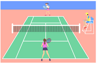Tennis court [1414470] Tennis