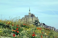 Mont-Saint-Michel and poppy Stock photo [1415531] Europe