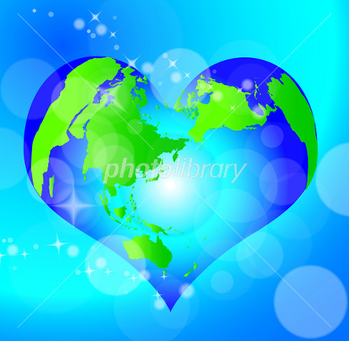ハートな地球 イラスト素材 1516923 フォトライブラリー Photolibrary