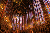 The upper chapel of Sainte-Chapelle Stock photo [1505077] Europe