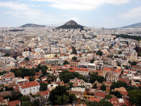 Hills and Athens city of Lycabettus Stock photo [1506876] Greece