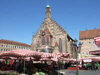 Germany Frauenkirche and market Stock photo [1513588] Church