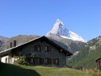 Switzerland at the foot of the Matterhorn of house Stock photo [1513862] Switzerland