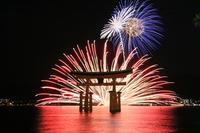 Miyajima underwater fireworks Stock photo [1513909] Fireworks