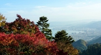 Autumn leaves and Otsu skyline of Mount Hiei Stock photo [1514316] Lake