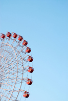 Blue sky and red Ferris wheel Stock photo [1515727] Blue