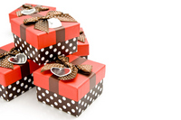 Multiple of gift boxes stacked on white background Stock photo [1516827] Giveaway