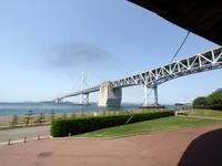 瀬戸大橋記念公園から見た南備讃瀬戸大橋 の写真素材
