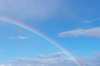 Blue sky and rainbow Stock photo [1613273] Blue
