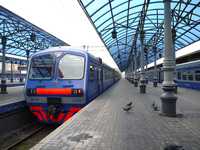 Moscow station Stock photo [1616400] Platform