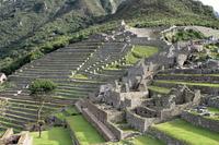 Machu Picchu terraced fields Stock photo [1616900] South