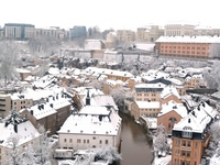 Luxembourg of snow Stock photo [1617912] Luxembourg