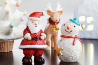 Santa Claus and snowman Stock photo [1620628] Santa