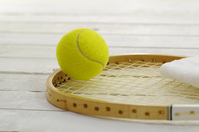 Tennis racket and ball Stock photo [47822] Tennis