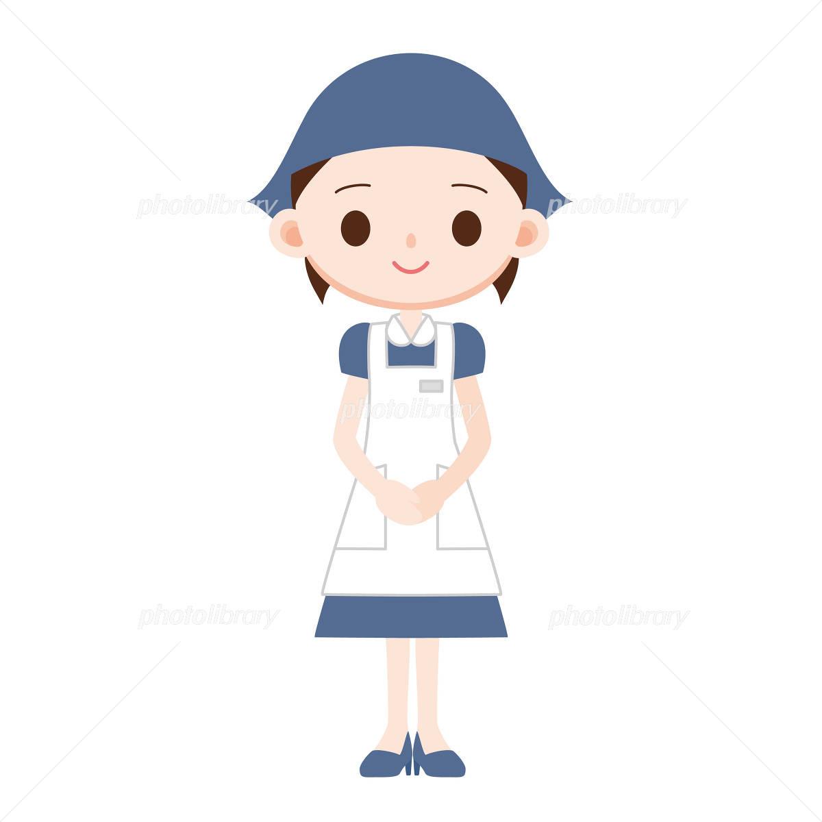 洋菓子の販売員 青い制服 イラスト素材 1723208 フォトライブ