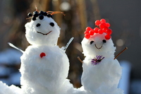 Snowman smile Stock photo [1716868] Snowman