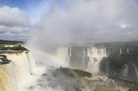 Rainbow is applied to the Iguazu Falls Stock photo [1717591] Iguazu