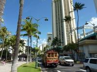 Waikiki Kalakaua Avenue Stock photo [1720142] Trolley