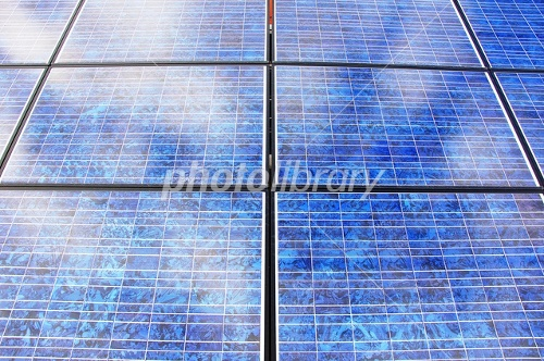 Close-up of solar panels Photo