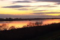 Sunset of the Tone River Stock photo [1789361] Tonegawa