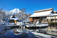 Oshino Hakkai snow scene Stock photo [1792809] Mt.