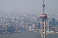 Oriental Pearl Tower and the Shanghai skyline Stock photo [1796112] China