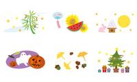 July August September October November December illustrations [1799786] Tanabata