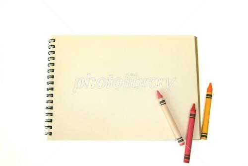スケッチブックとクレヨン ID ... : 絵日記 ノート : すべての講義