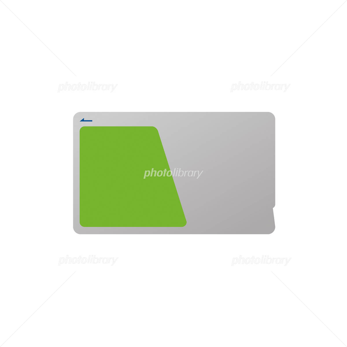 Illustrations of electronic money corresponding card イラスト素材